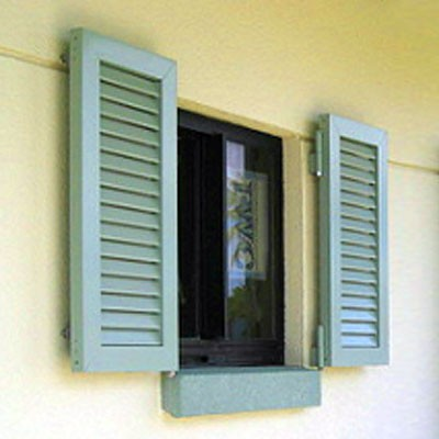 Louvered Aluminum Storm Shutters